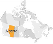 click to view map and aerial view of Alberta